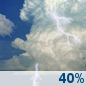 Thursday: Chance Showers And Thunderstorms